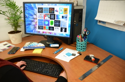Graphic Design work space at JB Print Solutions